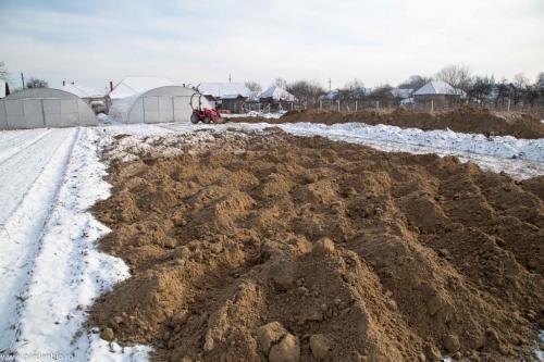 Distribuim solul  usor-nisipos pentru straturi.